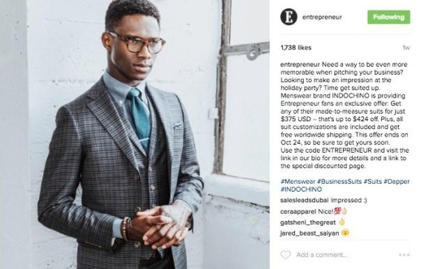 Entrepreneur Instagram Link in Bio