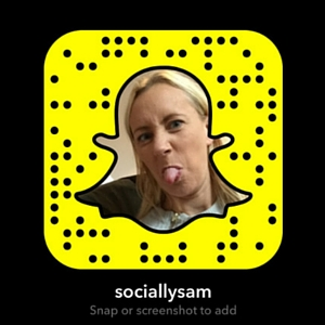 Socially Sam Snapchat snapcode
