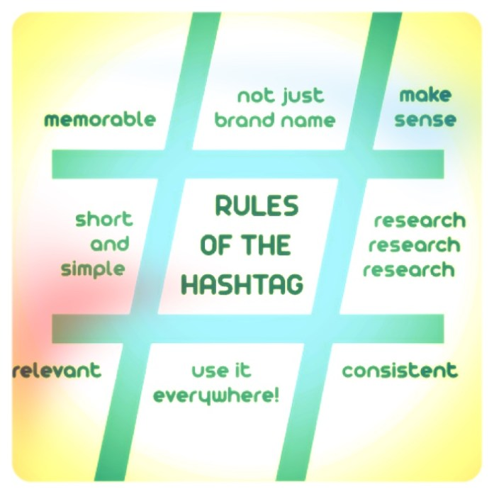 Rules of Using Hashtags on Social Media Courtesy http://louisem.com