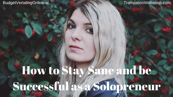 'How to Stay Sane and be Successful as a Solopreneur' In this blog, I first explain the subtle difference between a solopreneur and an entrepreneur. Then, I will specify the solopreneur's most valuable asset. Subsequently, it is time to discuss productivity. Once you understand all those things, it is time to raise the bar and become successful as a solopreneur. Read the blog here: http://bit.ly/SolopreneurSuccessful