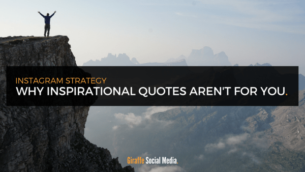 Instagram inspirational quotes bad engagement