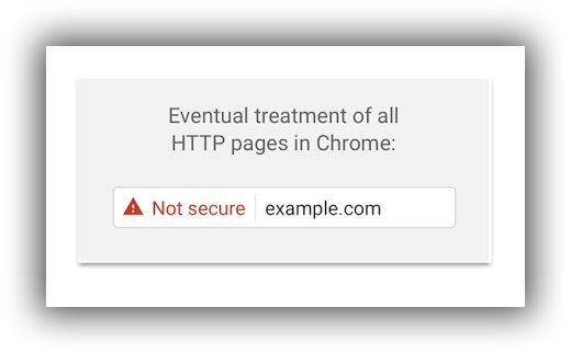 example google shared to illustrate how they will label non-secure websites in the near future