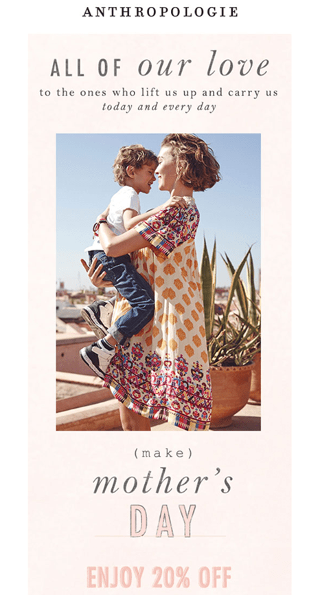 Anthropologie - Mothers Day Email Campaign