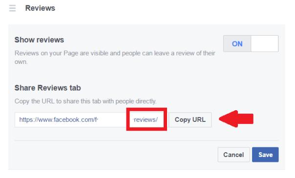 Facebook Reviews Link