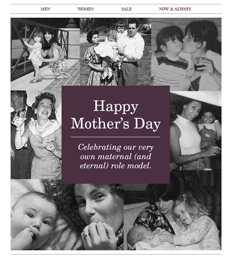 Johnston & Murphy - Mothers Day Email