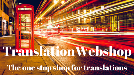 TranslationWebshop: the one stop shop for translations. TranslationWebshop: de one stop shop voor vertalingen.