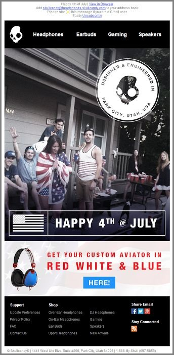 Skullcandy_4th of july email templates