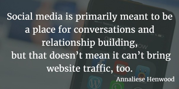 Social media outreach article quote