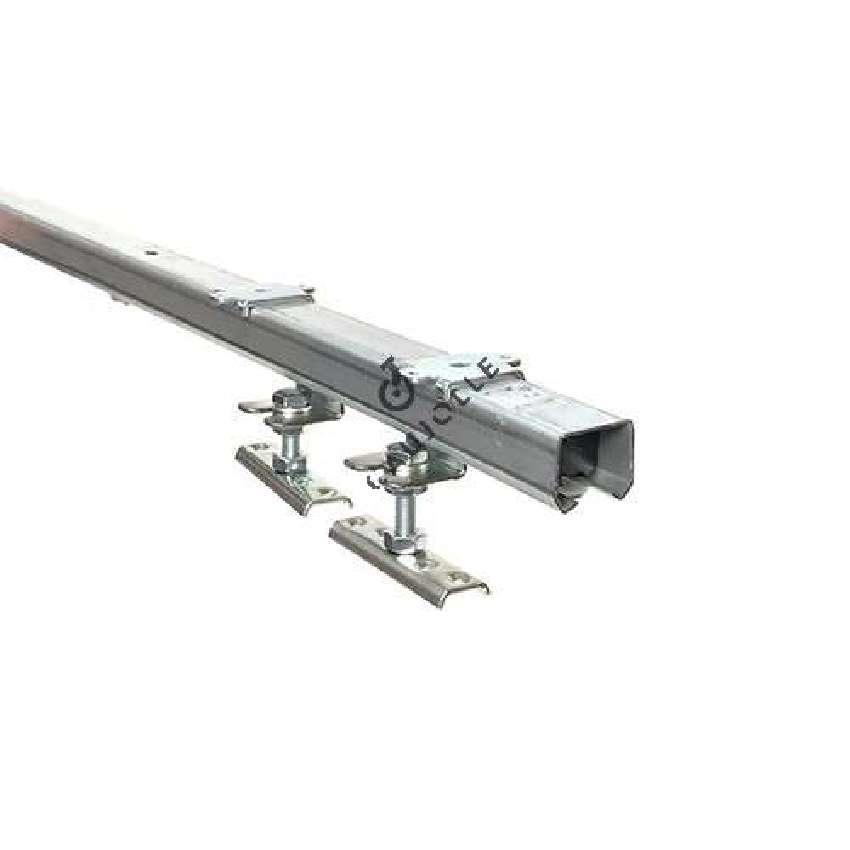 kit complet avec rail pour porte coulissante de 16 mm a 50 mm d epaisseur et de 1 m de large