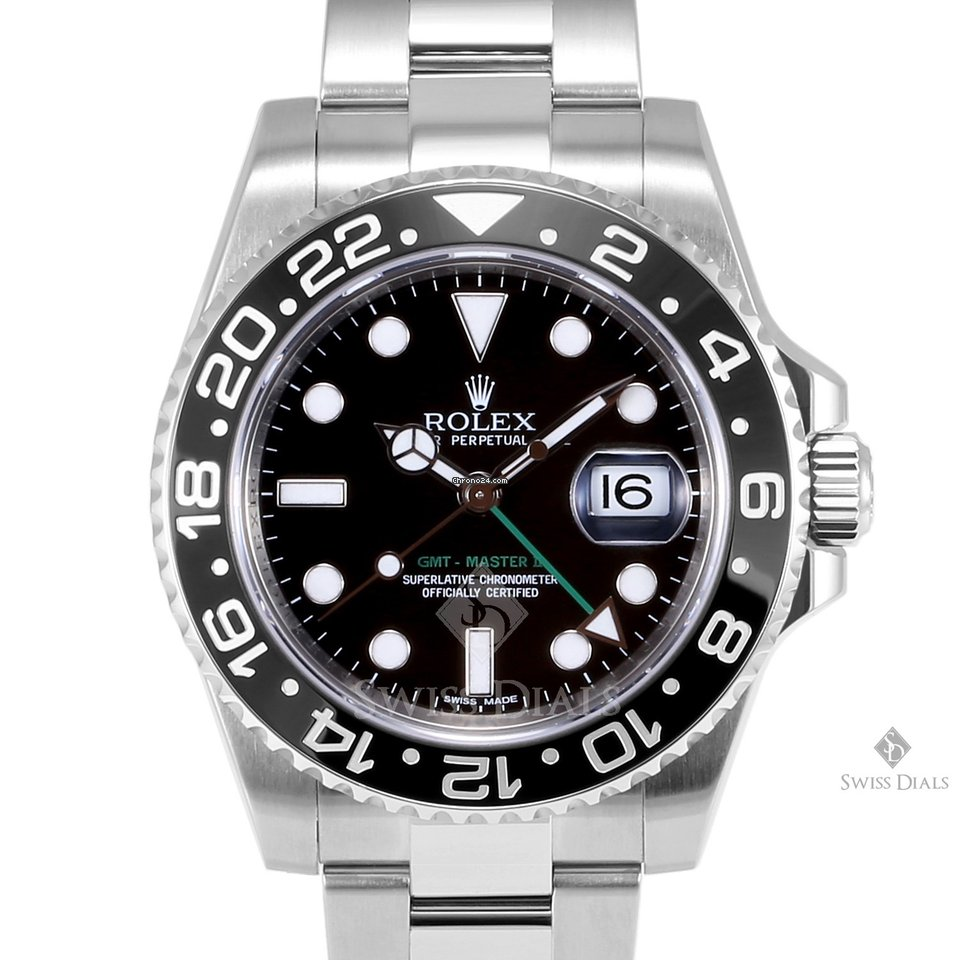 Rolex GMT Master II Stainless Steel Black Dial Ceramic
