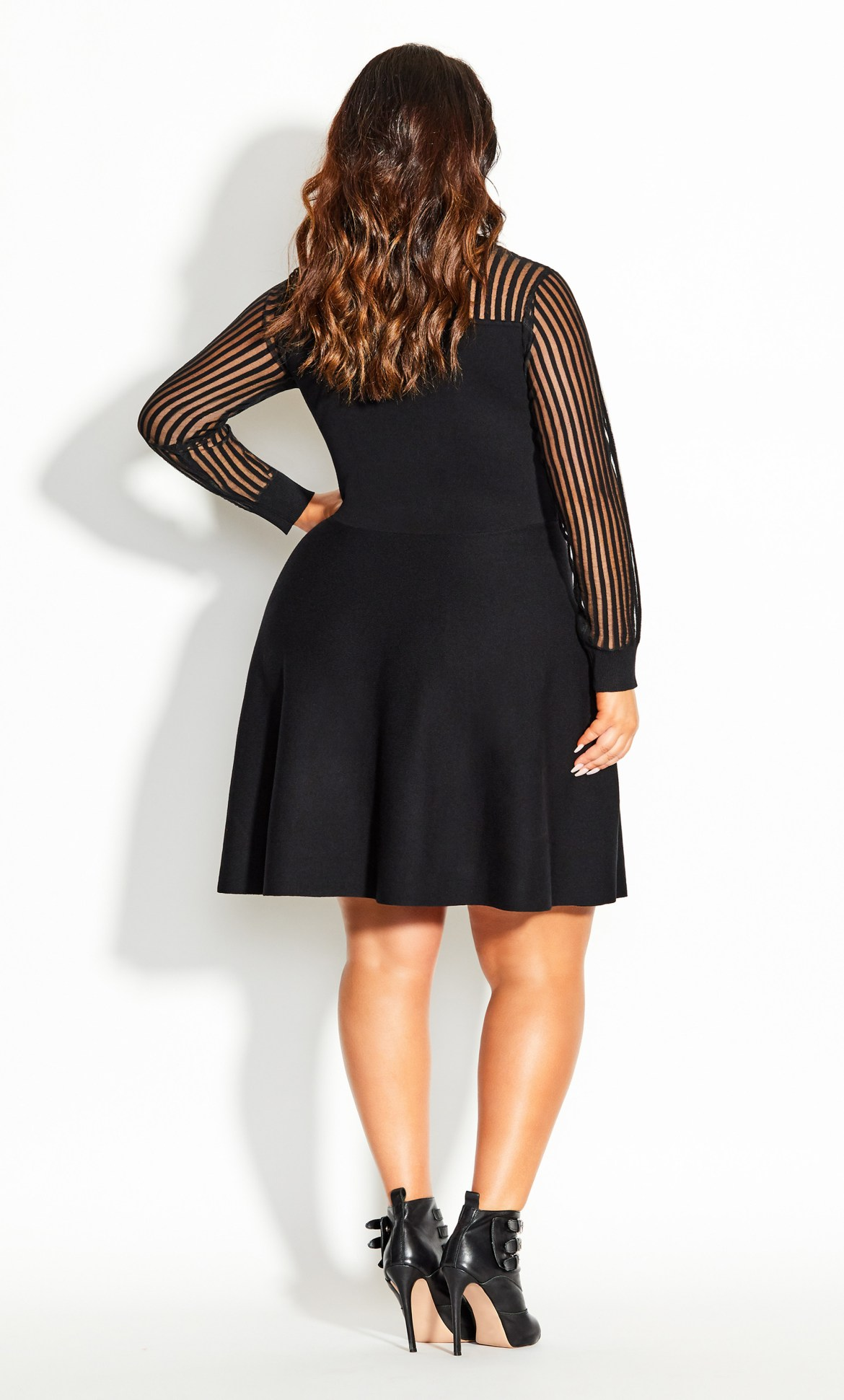 Ribbed Sweater Dress - black 8