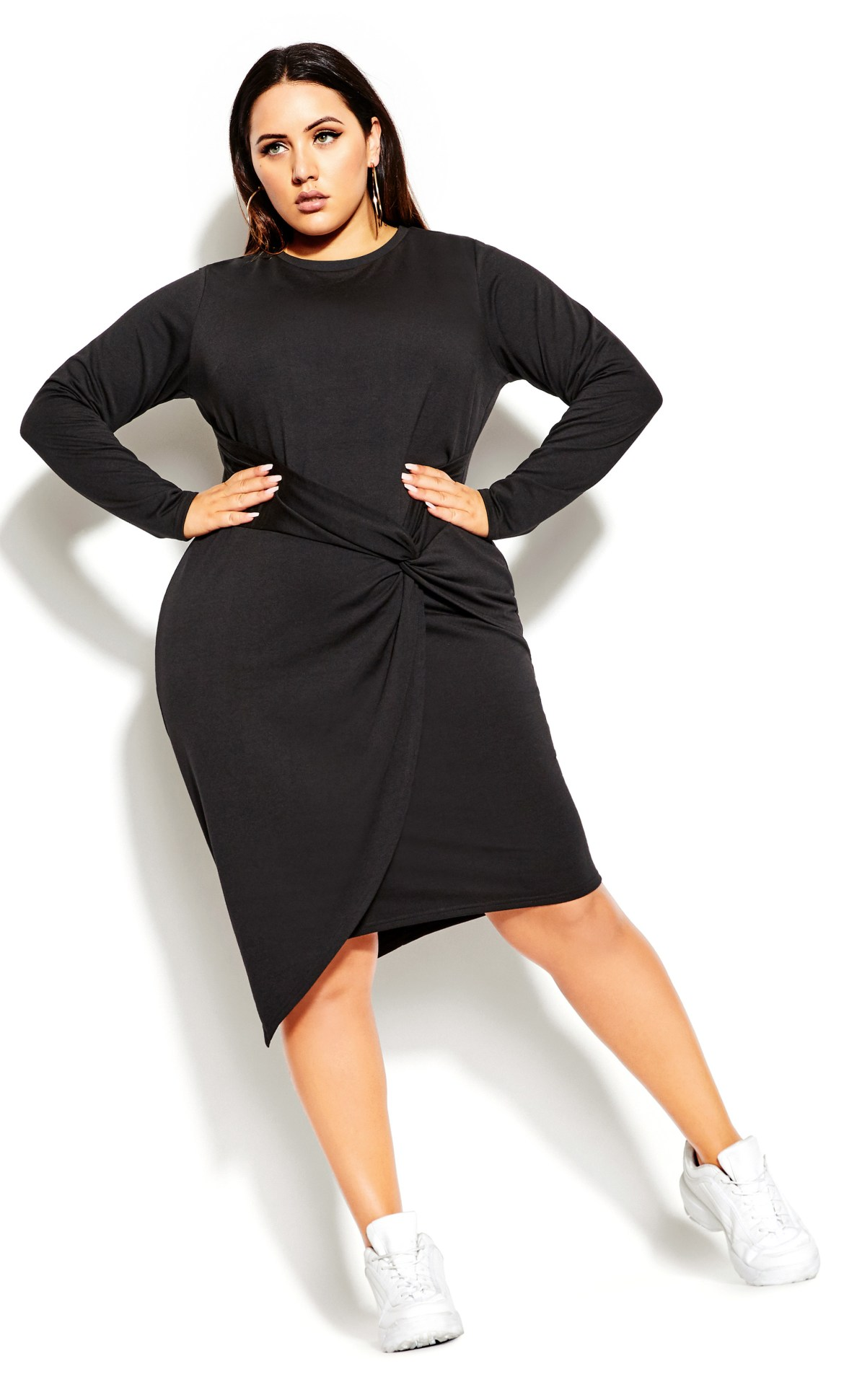 Twist Bodycon Dress - black 8