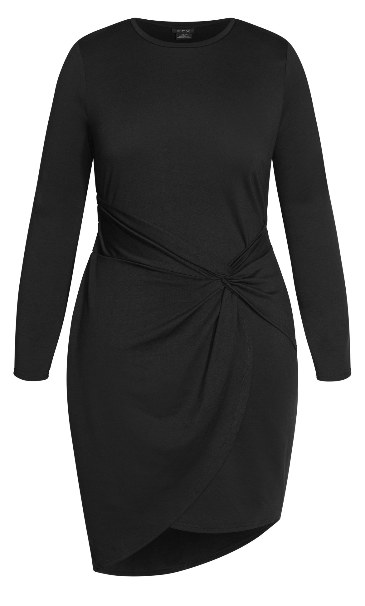 Twist Bodycon Dress - black 10