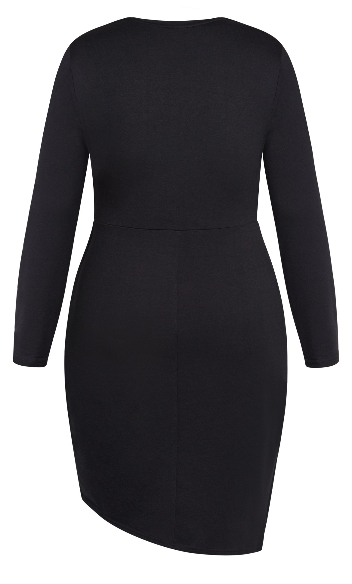 Twist Bodycon Dress - black 11