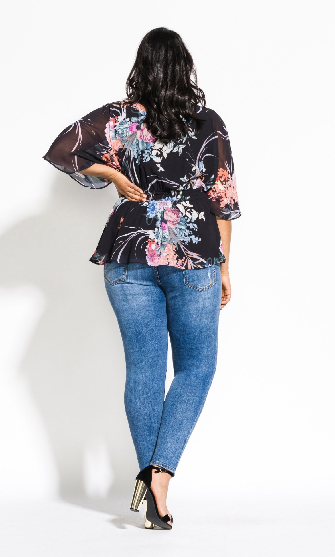 Flourished Top - black 8
