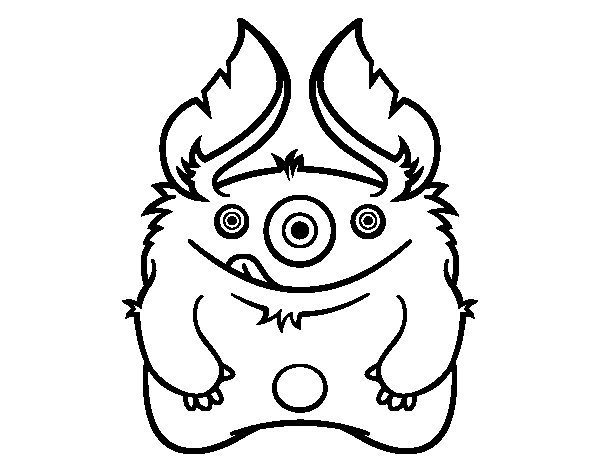 furry monster coloring page  coloringcrew