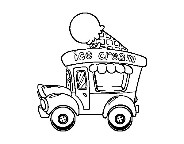 Free Coloring Pages Of Ice Cream Truck
