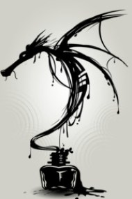 Ink Dragon Shirts. The inky dragon rises up from the bottle. Black ink splats and cool line work make this dragon design a must have. Black and white art stands out in this wonderful illustrated dragon. Get this cool art today.