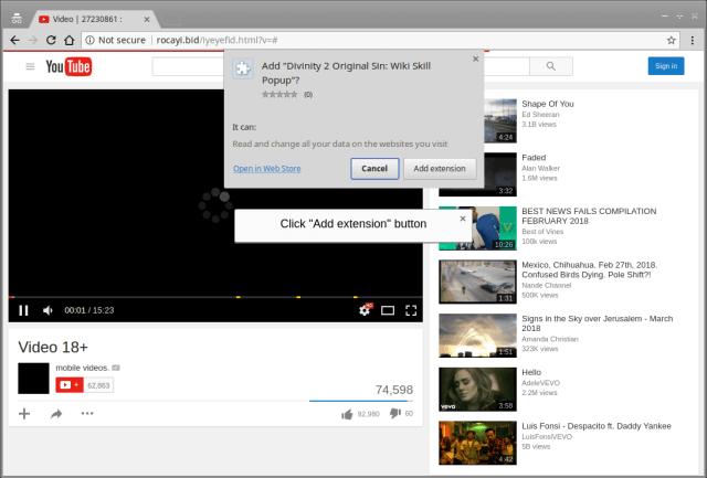 Falso-youtube