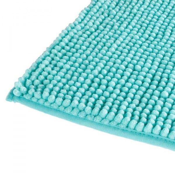 tapis de bain chenille bleu
