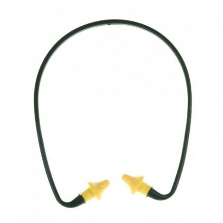 arceau antibruit en plastique noir bouchons d oreille jaune en polyurethane