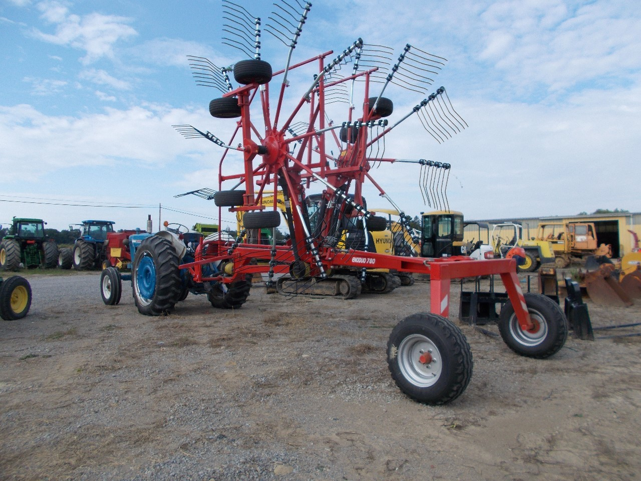 Farm King Double Rotary Rake