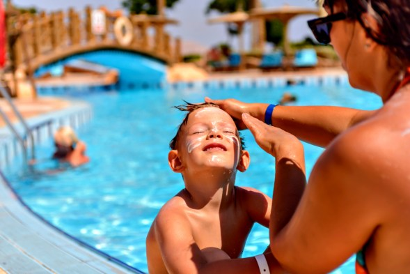 Image result for sunscreen swimming