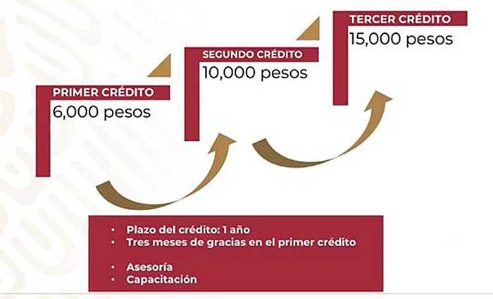 """Esquema de funcionamiento de las """"Tandas de Bienestar"""". Imagen: Especial"""