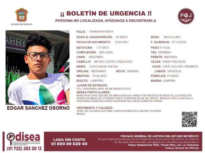 Ficha Alerta Odisea: Edgar Sanchéz Osorno