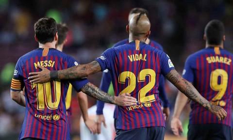 Messi, Doblete, Vidal, Barcelona,