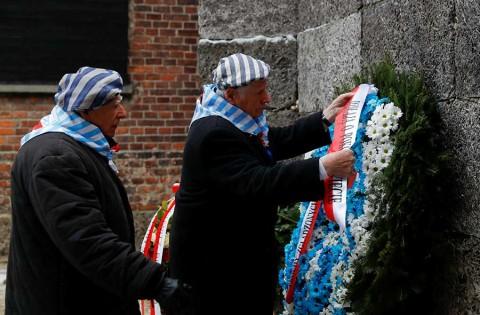 Sobrevivientes de Auschwitz conmemoran su liberación