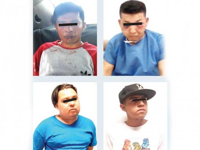 Los cuatro presuntos ladrones fueron capturados por la policía. Fotos: Especial
