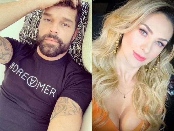 Ricky Martin le bajó el novio a Aracely Arámbula. Fotos Instagram: rickymartin / aracelyarambula