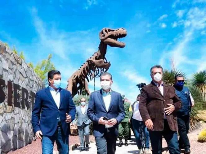 Francisco García Cabeza de Vaca, from Tamaulipas; Jaime Rodríguez Calderón, from Nuevo León; and Miguel Riquelme Solís, from Coahuila. Photo: Special