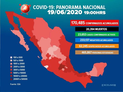 México supera los 170 mil casos de coronavirus