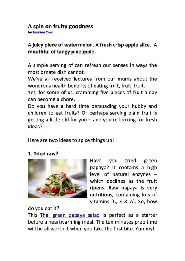 Entry #27 by jasmineyow for Write ONE orginal health and fitness