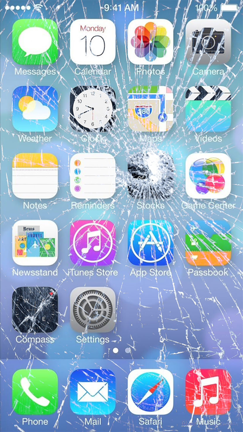 7 Broken Screen Wallpapers For Apple IPhone 5 6 And 7