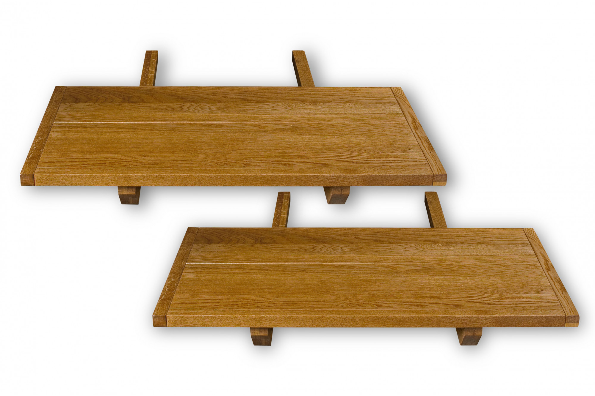 lot de 2 allonges pour table en chene massif hellin