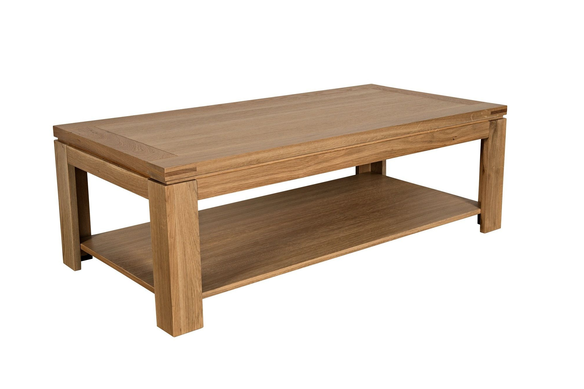 table basse moderne en bois massif chene de france hellin