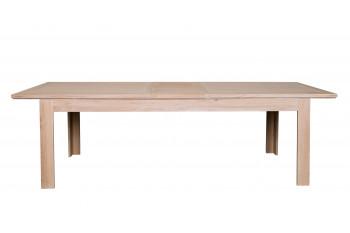 table moderne extensible boston l200 280 bois chene blanchi massif