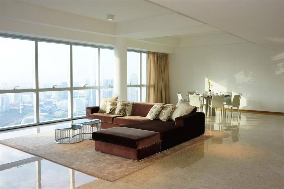 The penthouse at Marina Bay Residences in Singapore