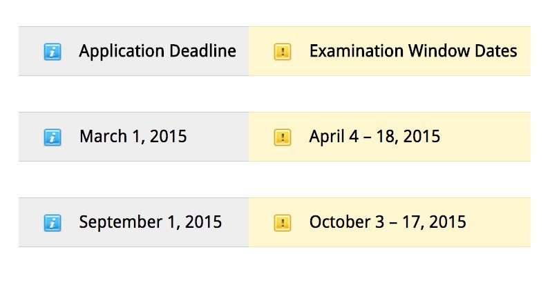 ARC Application Deadlines