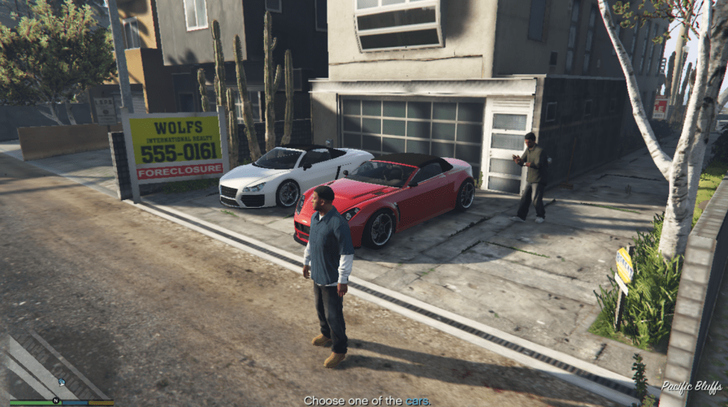 GTA 5 game screenshot with the lowest display settings GTA V performance