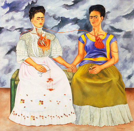 "Frida Kahlo. The Two Fridas, 1939. Oil on canvas, 5'9"" x 5'9"". Museum of Modern Art, Mexico City."