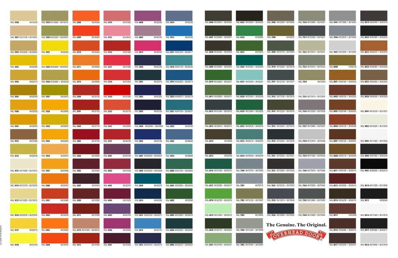 Our Garage Door Color Chart on Garage Door Color  id=51236