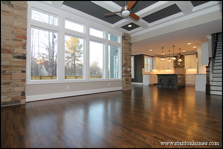 Raleigh custom home builder | Coffered ceiling
