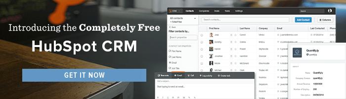 get HubSpot's free CRM