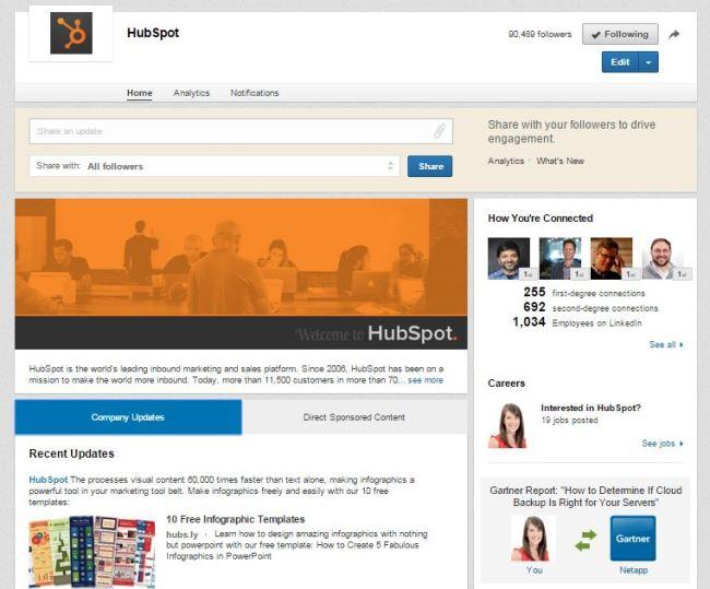 hubspot-linkedin-company-page