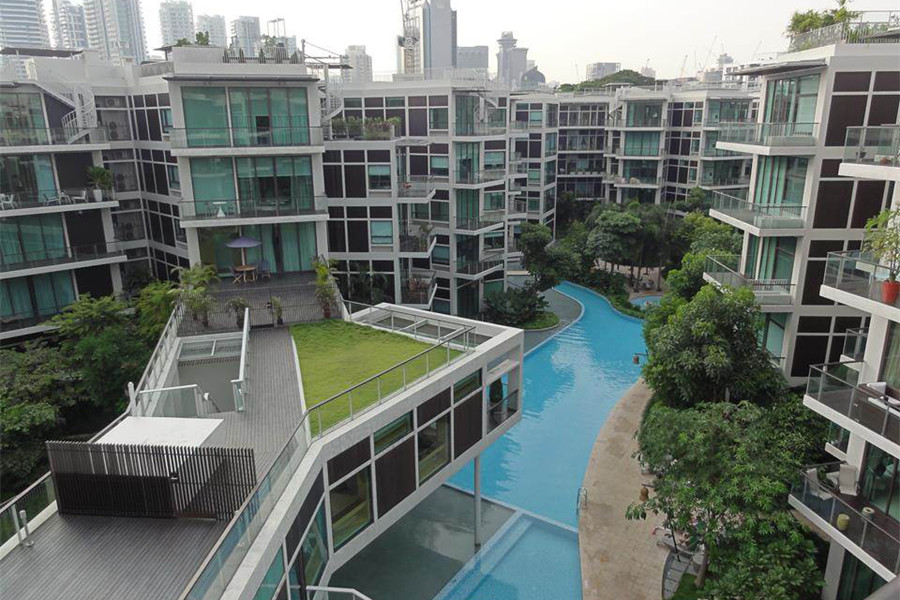 Singapore's Belle Vue complex has been recognized for its high standards of energy efficiency and its low environmental impact.