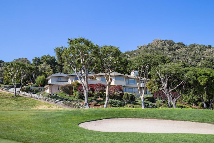 """Das Clum House"" is an exquisite custom estate located alongside the 10th green of Carmel Valley Ranch Golf Course inside the Carmel Valley Ranch Estates gate. With 180-degree panoramic views of the golf course, mountains, and city lights to the west, this home is replete with top-of-the-line custom finishes, oak floors, French doors, and built-in custom cabinetry and stone work."